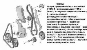 Схема привод грм