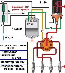 Схема функционирования БК зажигания