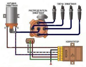 Бесконтактная система зажигания схема