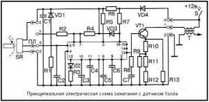 Схема принципиальная датчика холла