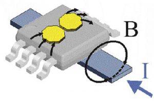 Схема включения датчика тока MLX91206