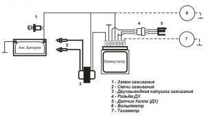 Схема коммутатор+датчик холла