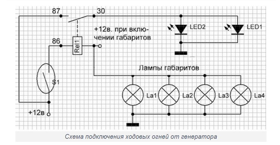 Схема подключения дхо с герконом