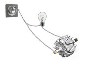 Лампа для проверки генератора