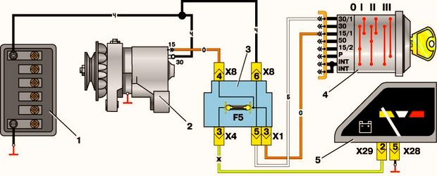 Схема аккумулятор-генератор