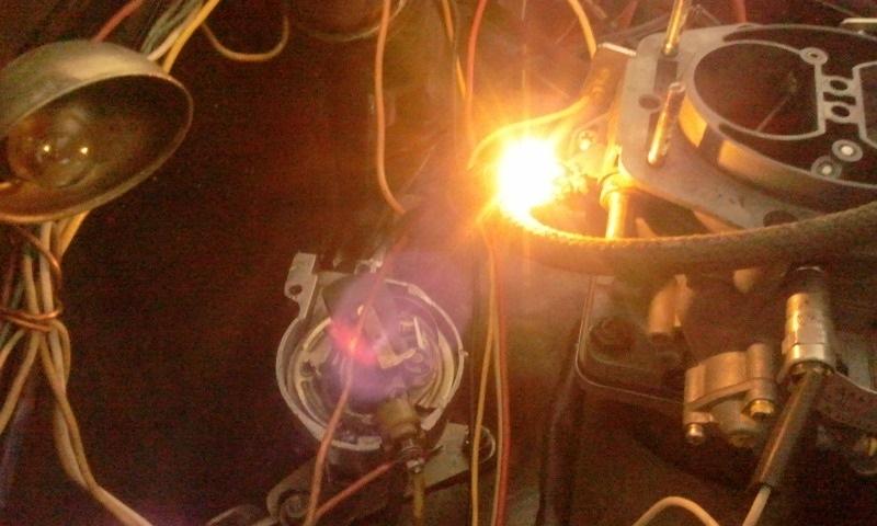 Как выставить зажигание через лампочку