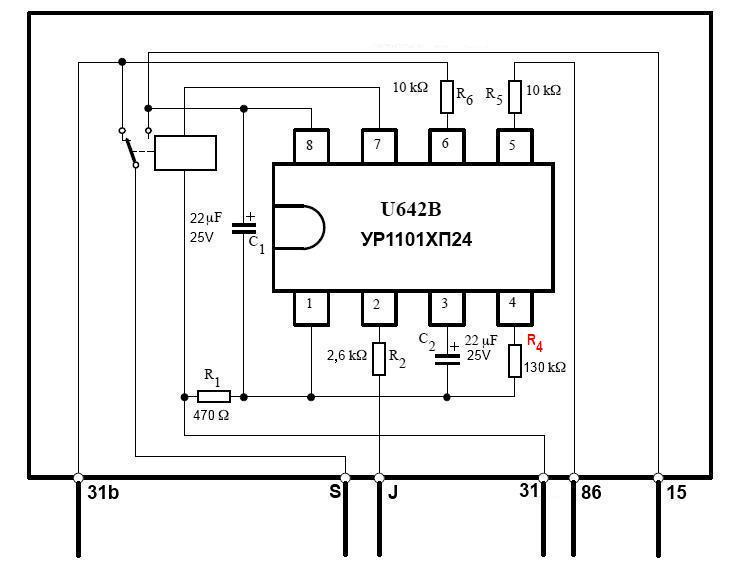 Схема реле дворников