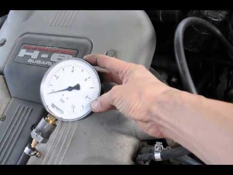 Как проверить даление в топливной рампе инжектора