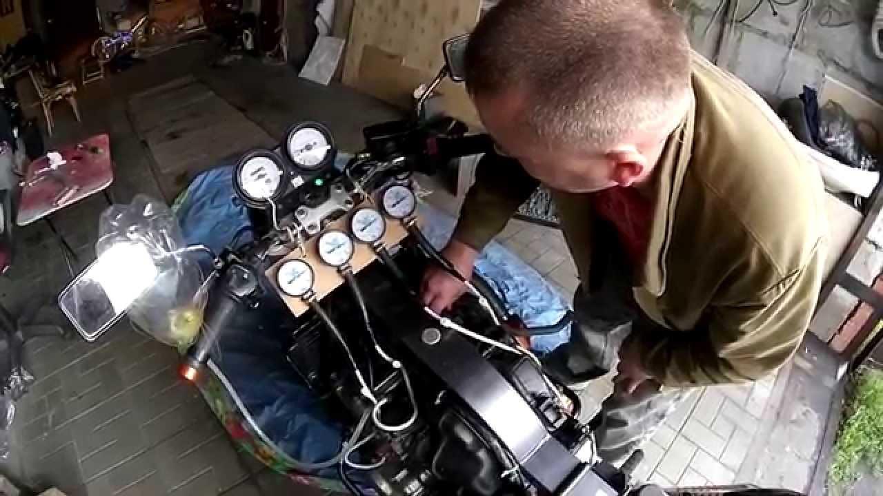 Синхронизация карбюраторов на мотоцикле