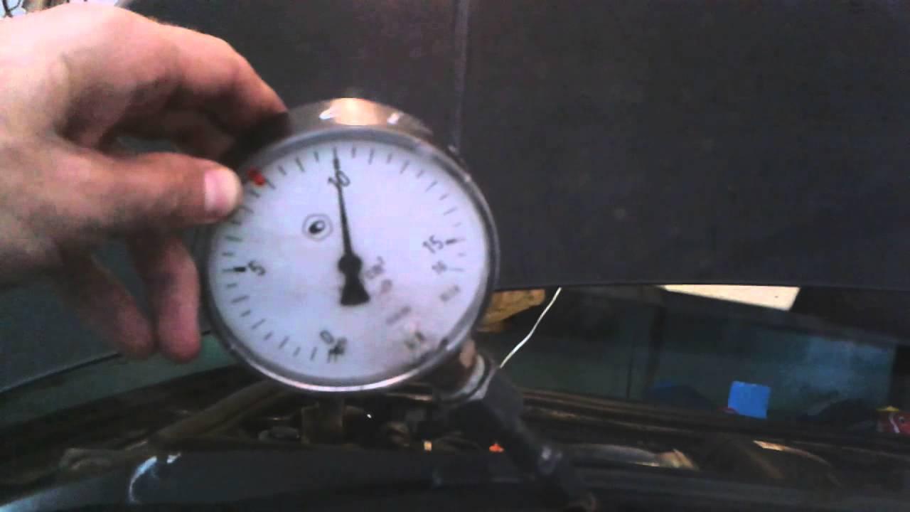 Проверка насоса манометром