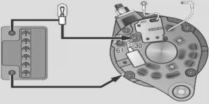 Схема проверки диодного моста генератора