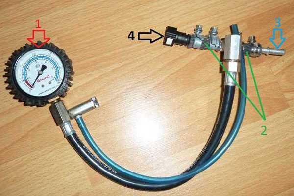 Переделанный измеритель давления шин