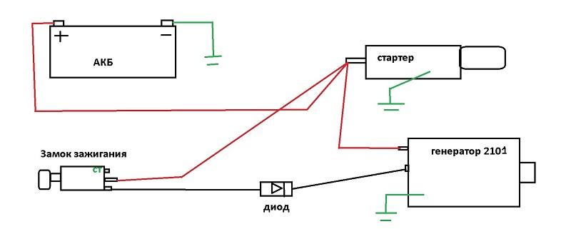 Принципиальная схема генератора