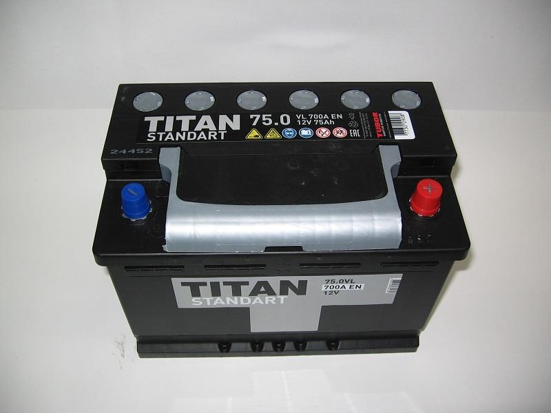 Титан аккумулятор на 75