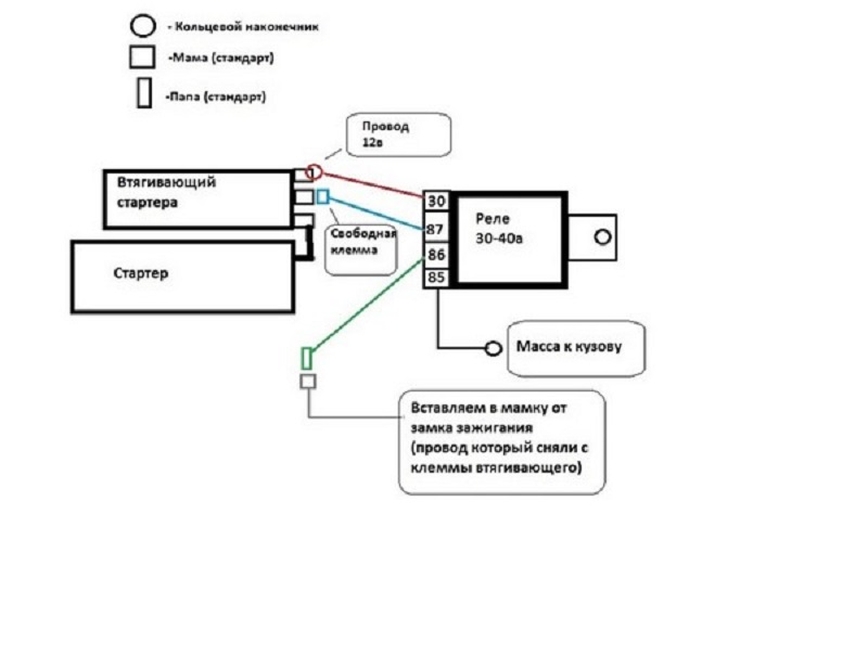 Схема подключения дополнительного реле